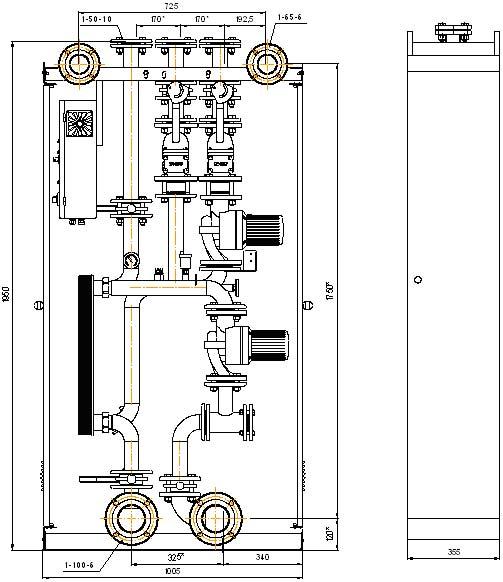 Габаритно-приєднувальні розміри модулів МГВ